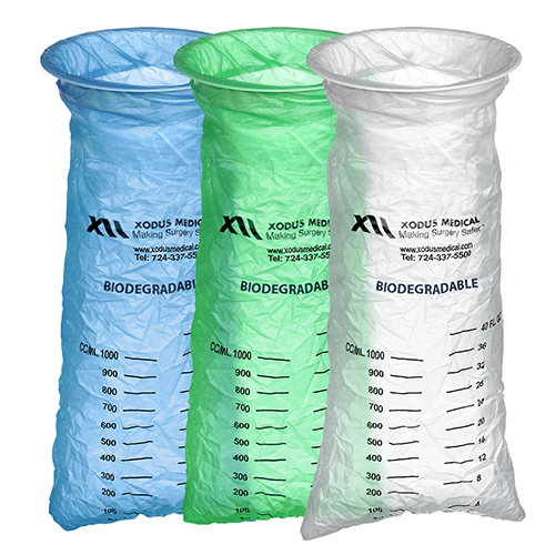 Emesis Bags Are Biodegradable And Available In Blue Green Clear